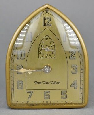 Fine Vintage Art Deco True Time Tellers New Haven Cathedral Table Alarm Clock
