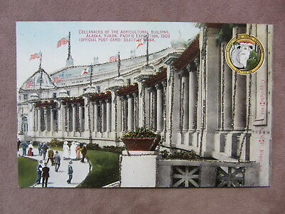 1909 PC Alaska Yukon Pacific Exposition Seattle Agriculture Building Glitter