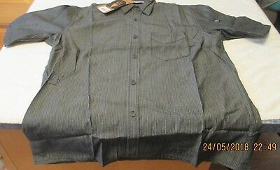 New Chef Works Urban Collection Gray White Pin Striped Shirt Size Medium Unisex