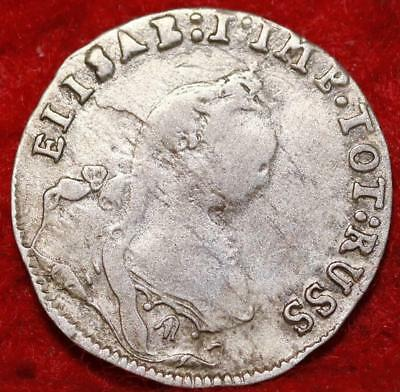 1761 German State East Prussia 3 Groze Silver Foreign Coin