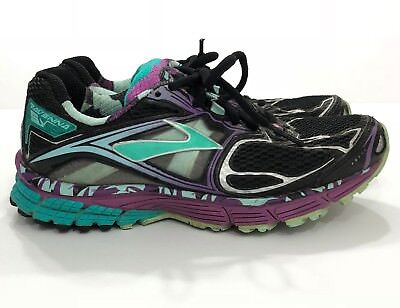 bfdceca31da BROOKS RAVENNA 5 Women s 6.5 Running Shoes Black Purple Yellow SH ...