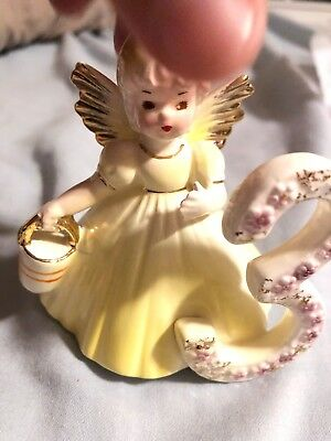vintage Josef Originals 3rd birthday angel figurine third birthday angel