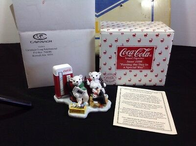 Cavanagh's Coca Cola Passing The Day In A Special Way Figurine 1998 NIB