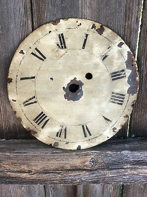 Early Antique American  Banjo Wall Clock Dial,  Restoration Project