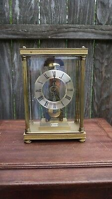 70s vintage made in west Germany hermle large brass mantle clock