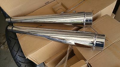 Dna Megaphones Slip On Pipes For Harley Touring 95-2016 Dealers Look, Free Ship