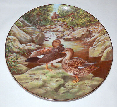 Vintage 1988 Knowles THE GADWALL Jerner's DUCK  Plate # 7 Living With Nature COA