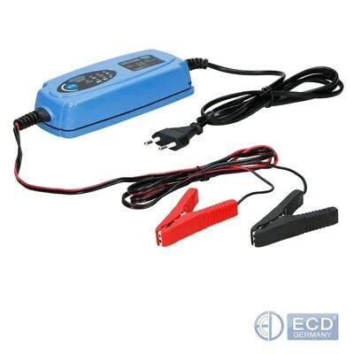 12V Electronic smart car battery fast trickle charger motorbike vehicle van auto
