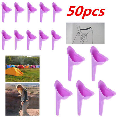 50pcs Female Lady Urinal Funnel Urination Device Soft Urination Outdoor Travel