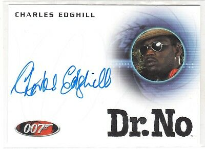 JAMES BOND 007 ARCHIVES A245 CHARLES EDGHILL in DR. NO AUTOGRAPH