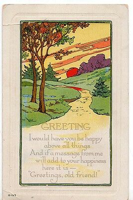 Vintage Arts and Crafts Greeting Card