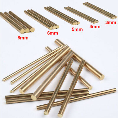Brass Rod Bar Handles Knife Making Rivets Pin Pins DIY Supplies 3/4/5/6/8mm New