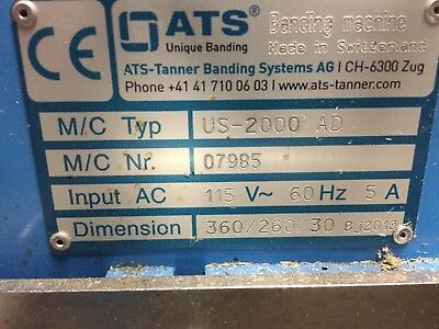 Ats Us-2000 Ad Banding Machine Excellent Felins Wexler (2 Units Available)