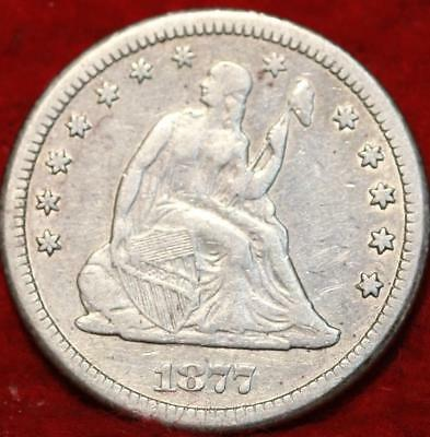 1877-CC Carson City Mint Silver Seated Liberty Quarter