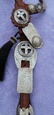 Collectible Custom Made Kenny Hanson Horse Show Headstall Lots of Silver