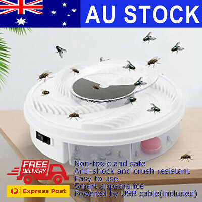 Electric USB Automatic Flycatcher Fly Trap Mosquito Reject Control Catcher