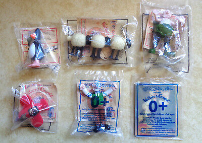 Collectible Wallace & Gromit KFC Six Kids Meal Toys Unopened 1998