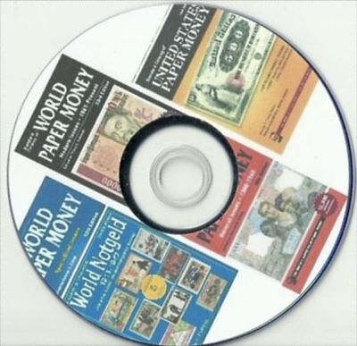 World Paper Money 5 catalogs of Money Banknote on DVD with 23th issue 2018