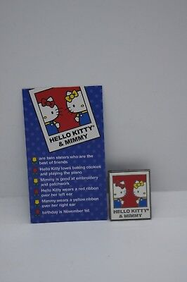 Sanrio Friend Of The Month Pin Hello Kitty & Minny November 2017 Authentic