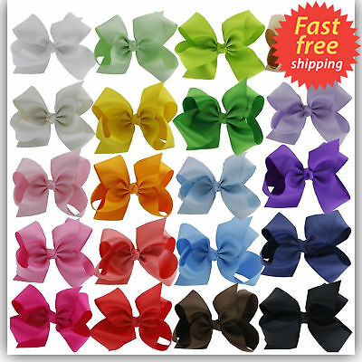 6 Inches Huge Big Bow Clip Boutique Hair Bows For Girls Kids