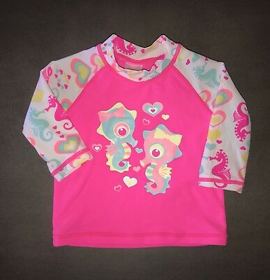 Size 000 Baby Berry Girls Summer Rash Shirt.  In Excellent Condition.