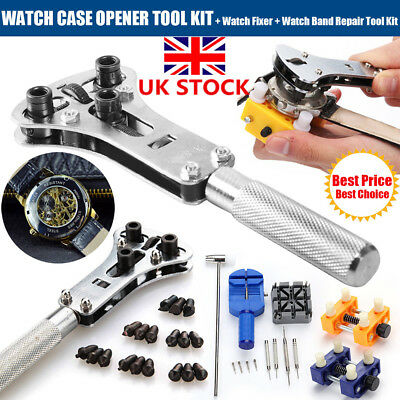 Watch Repair Tool Kit Back Case Opener Spring Remover Watch Pin Bars Watchmaker