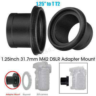 "T2 M42x0.75mm Thread Ring Tube 1.25"" to T2 Adapter Mount for Astronomy Telescope"