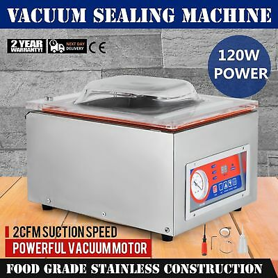 DZ-260C Commercial Vacuum Sealer Food Sealing Machine Kitchen Storage Packing AU