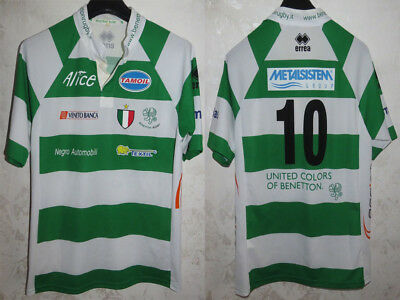 Maglia Shirt Jersey Maillot Trikot Camisa Rugby Benetton Treviso Italy Sz.l