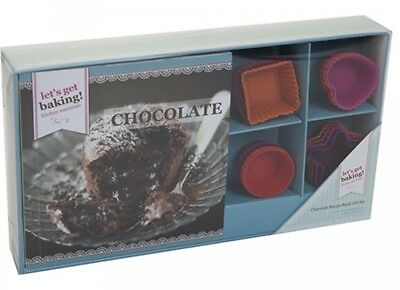 Get Baking Chocolate Recipe Book Gift Set with 16 Moulds Mothers Day Gift