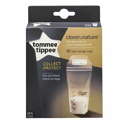 Tommee Tippee Breast Milk Storage Bags - 36 Bags 1 2 3 6 12 Packs