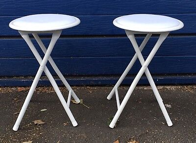 Pair Of White Harbour Folding Stools