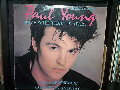 "Paul Young Love Will Tear Us Apart - Australian 12"" 45 Maxi Single Record P/s"
