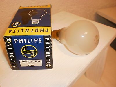 Ampoule PHILIPS B22 250 W S PHOTOLITA Développement photo