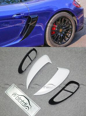 Painted ABS Side Air Scoop Vents Intake Fits For Porsche 981 Cayman GT4 Coupe