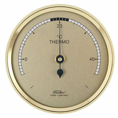 Fischer Thermometer 68mm messingfarben made in Germany