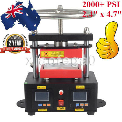 "2000+ PSI Professional Hand Crank Rosin Press Duel Heated Plates(2.4"" x 4.7"") AU"