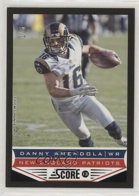 2013 Score End Zone #124 Danny Amendola New England Patriots Football Card