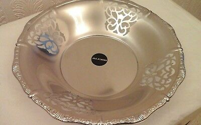 Alessi  Vintage 28cm  Pierced Fruit Bowl brushed - 18/10 Stainless Steel