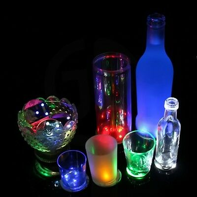 LED Light Coaster Luminous Bottle stickers Mat Cup For Party Bars 5 Color FG