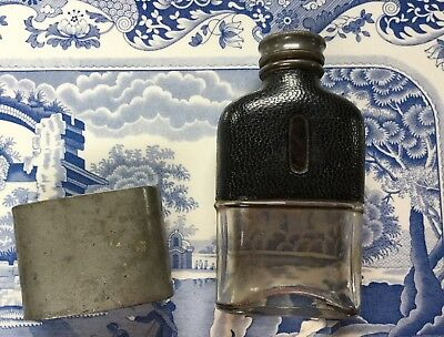James Dixon & Sons - Small 1/8 Pint Hip Flask With Pewter Cup