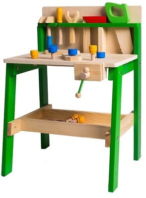 Kids Tool Work Bench Wooden Diy Table Work Creative Role