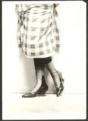 1920s Jazz-Age Charles Sheldon Fox Shoes Advertising Photograph Lace-Up Boots NR