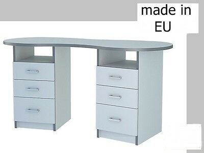 Manicure Large Table Nail Technician Desk Beauty Station White With Drawers