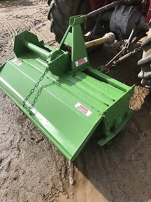 Tractor rotary hoe tiller 3 Point Linkage Sovema .  Like New 4ft 6