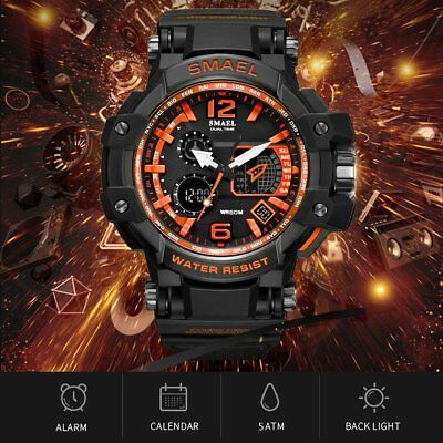 Mens LED Digital Watch Waterproof Mens Watches Fashion Casual White Sport Watch