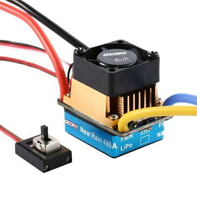 480A Dual Mode Brush Electronic Speed Controller ESC Regulator With Cooling Fan