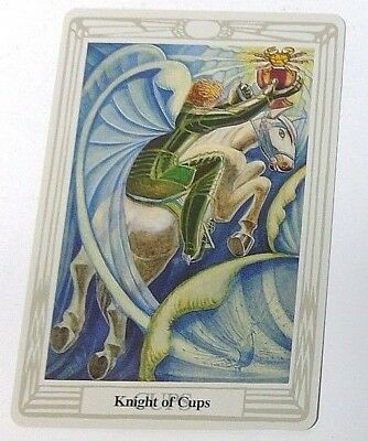 Knight of Cups single tarot card Crowley Large Thoth Tarot 1996 AGM Agmuller