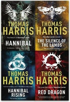 Hannibal Lecter Series Collection 4 Books Set by Thomas Harris   Thomas Harris