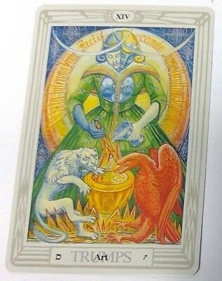 Art XIV Trumps single tarot card Crowley Large Thoth Tarot 1996 AGM Agmuller